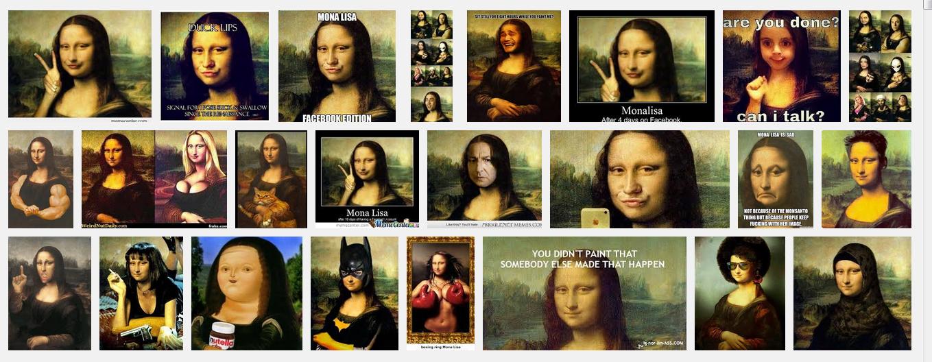 Abb. 4: Mem-Varianten Mona Lisa