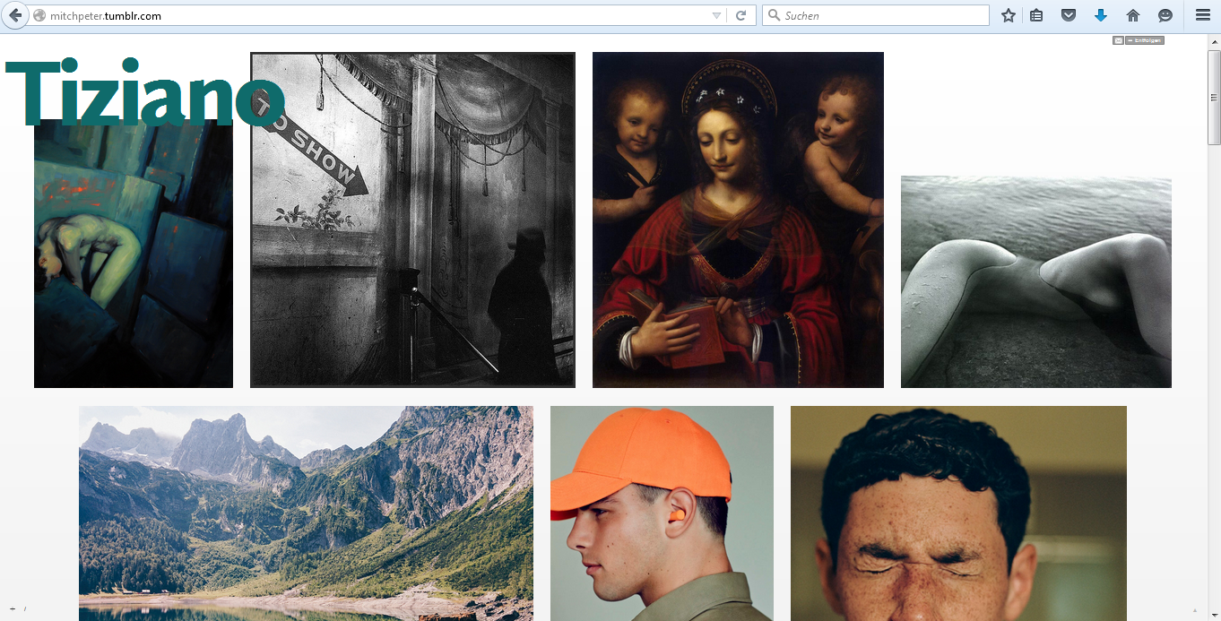 Abb. 3: Screenshot Tumblr-Blog tiziano/mitchpeter