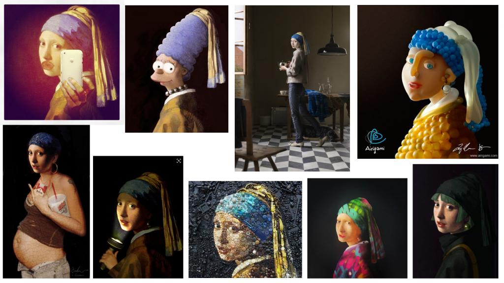 Varianten von Vermeers Mädchen mit dem Perlenohrgehänge
