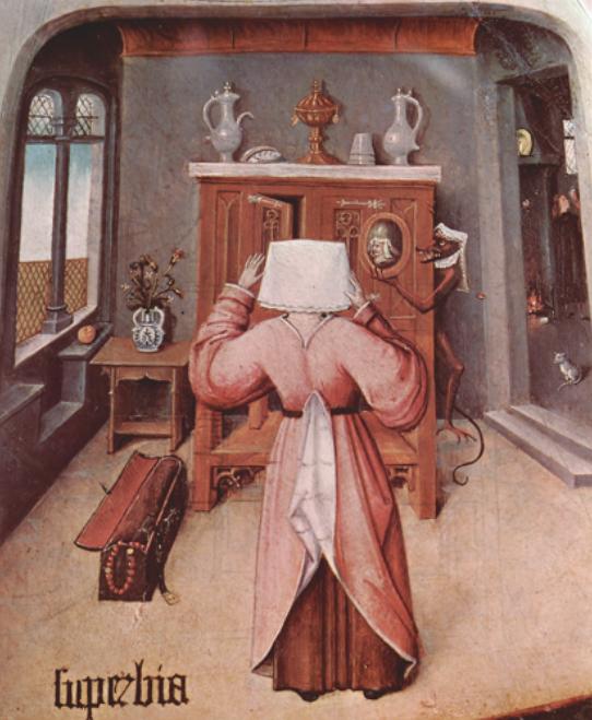 Abb. 1 Hieronymus Bosch, Die sieben Todsünden, 1505/10, Detail