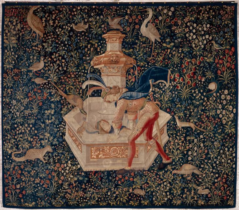 Abb. 2 Narzissus, Tapisserie, um 1500