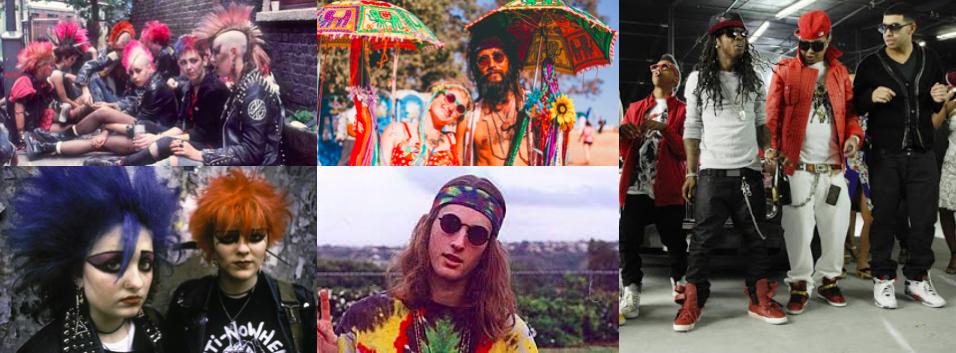 Pop-Szenen, die so gar nicht clean sind: Punk, Hippie, Hip Hop