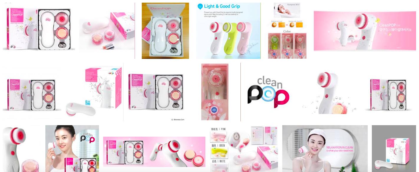 """Der südkoreanische Gesichtsreiniger """"Clean-Pop""""."""