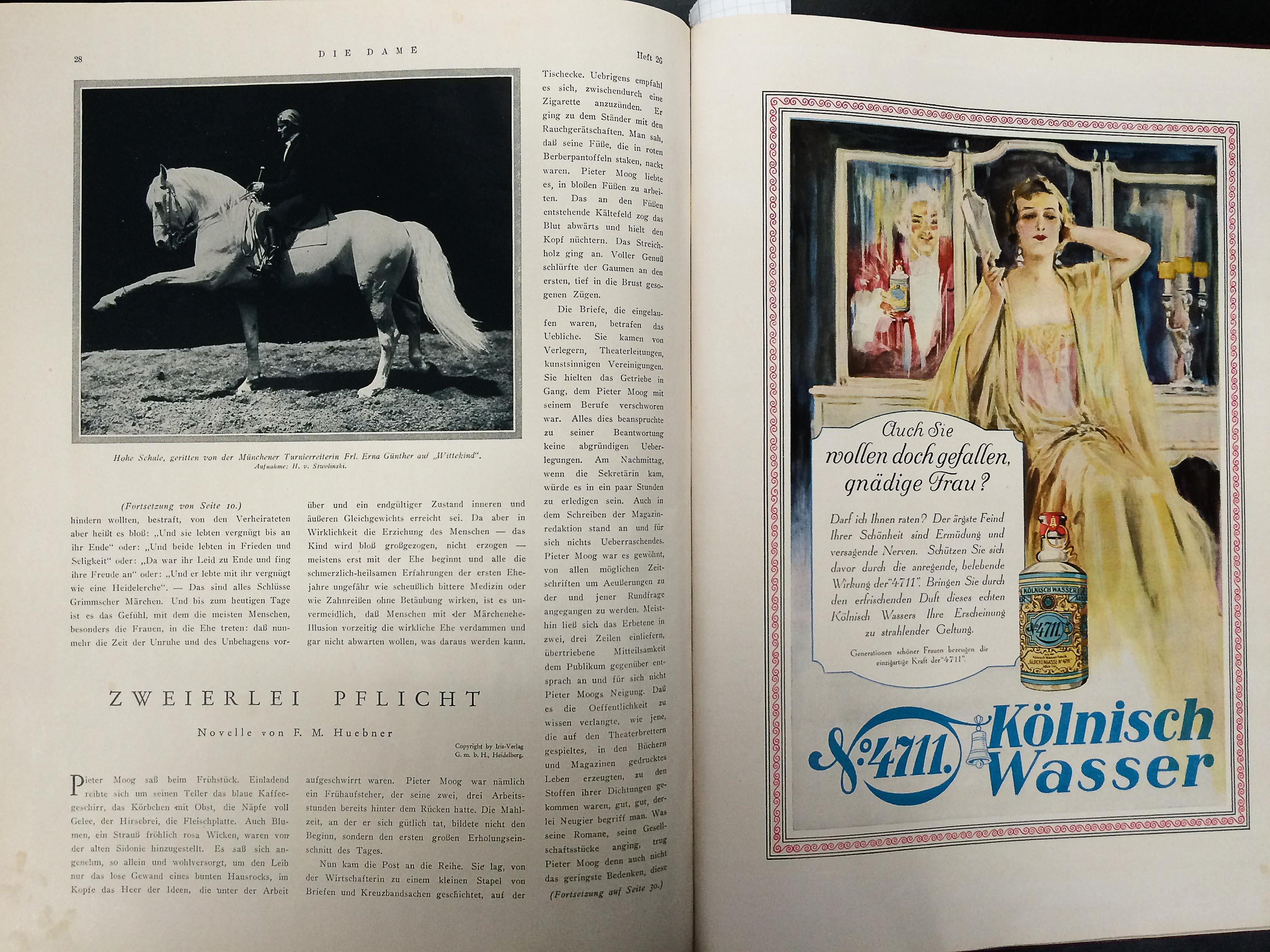 Die Dame Zweites Septemberheft 1928