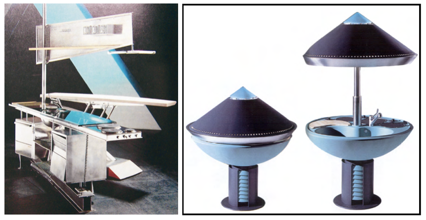 Abb. 13: Modell Mal-Zeit, Coop Himmelb(l)au, 1987 - 1989 (links), Abb. 14: Modell Eroica, Alberto Rizzi, Rossano Didaglio, 1990 (rechts)