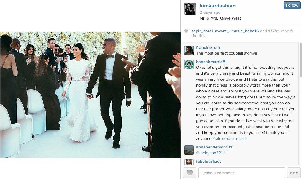 kardashian most liked