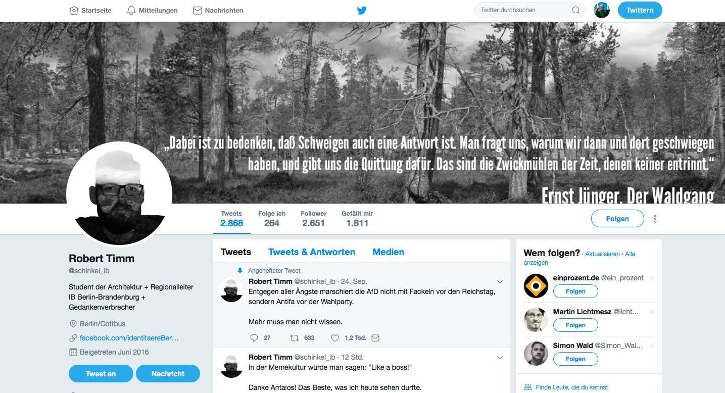 Robert Timm bei Twitter