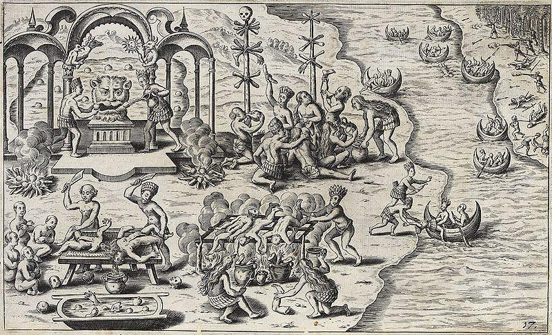Südamerikanischer Kannibalismus, Caspar Plautius, 1621.